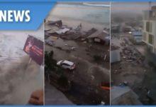 Photo of Tsunami hits Indonesia after 7.5 magnitude earthquake