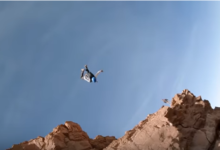 Photo of Base Jumping with a Drone Looks off the scale