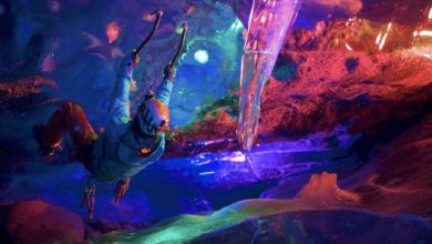 Photo of Brighter Night: Colorful Night Ice Climbing in Alaska's Mendenhall Glacier