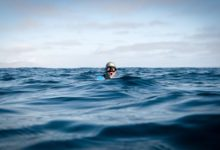 Photo of William Trubridge first person to complete a channel crossing by swimming underwater