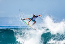 Photo of In the Bali WSL event Ricardo Christie Proudly Wears Māori Flag on CT Jersey