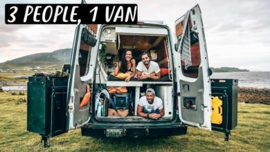 Photo of 3 PEOPLE LIVING IN A VAN | Van Life in Scotland