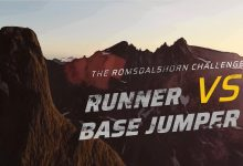 Photo of RUNNER VS BASE JUMPER – The Romsdalshorn Challenge