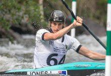 Photo of Luuka Jones double win at the New Zealand Canoe Slalom Open