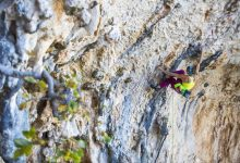 Photo of Climbing legend takes on unknown rock face near her Austrian home.