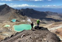 Photo of Tongariro Crossing with a Warning of Snow