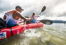 Photo of NATHAN FA'AVAE & RICHIE MCCAW JOCKEY FOR POLE POSITION ON ROTORUA'S ICONIC LAKES AS DAY ONE GODZONE UNFOLDS