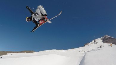 Photo of Kiwi Skiing Super Star Nico Porteous third place FIS Halfpipe World Cup